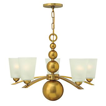 Zelda 5lt Chandelier Vintage Brass