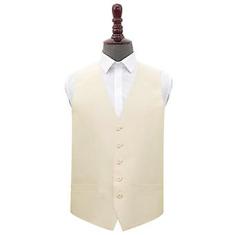 Beige Shantung Wedding Waistcoat