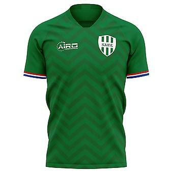 2019-2020 Saint Etienne Home Concept Football Shirt - Adult Long Sleeve