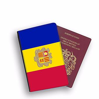 ANDORRA Flag Passport Holder Style Case Cover Protective Wallet Flags design