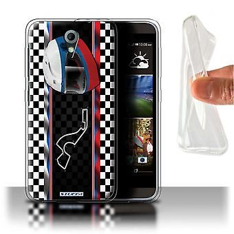 STUFF4 Gel/TPU Case/Cover for HTC Desire 820 Mini/Russia/Sochi/F1 Track Flag