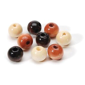 Round Wood Beads 8Mm 160 Pkg Earth Tones 1905 10