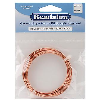 German Style Round Wire 22 Gauge 32.8 Feet Pkg Copper 180Cu022