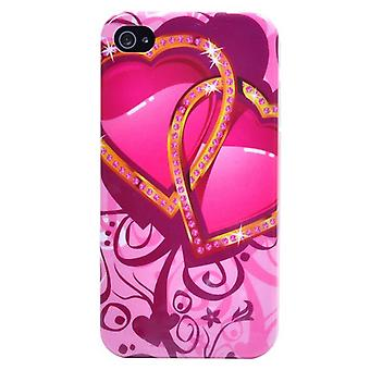IPhone cover 4/4S-Hearts