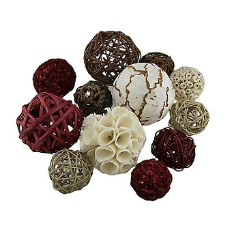 18 Pc. Exotic Dried Organic Decorative Spheres