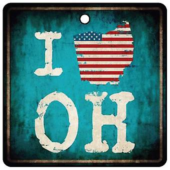 Me encanta Ohio Buckeye State ambientador de aire