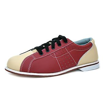 Bowlio Bowling shoes - leather rental shoes in blue and Red