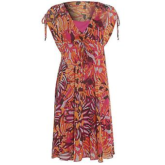 M & S Floral Chiffon Dress DR770-6