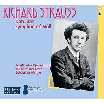 Strauss / Frankfurt Opera House & Museum's Orch - Don Juan Op. 20 - Symphony in F Minor Op. 12 [CD] USA import