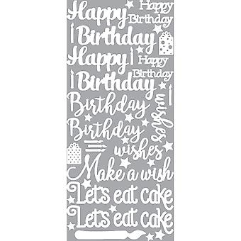 Dazzles Stickers-Birthday Greetings-White DAZ-2587