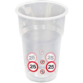 Cup 10 PCs traffic sign number 25 birthday mug 350 ml party