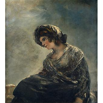 Francisco de Goya - The Milkmaid of Bordeaux Poster Print Giclee