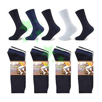 10 Pairs Mens Achievement Cotton Rich Sports Socks UK 6-11 Size