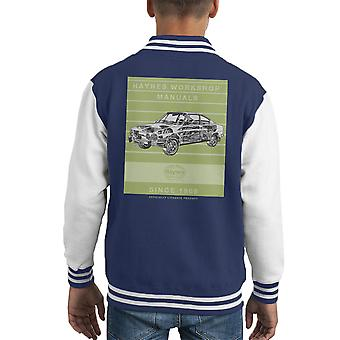 Haynes Workshop Manual 0303 Skoda 110R Stripe Kid's Varsity Jacket