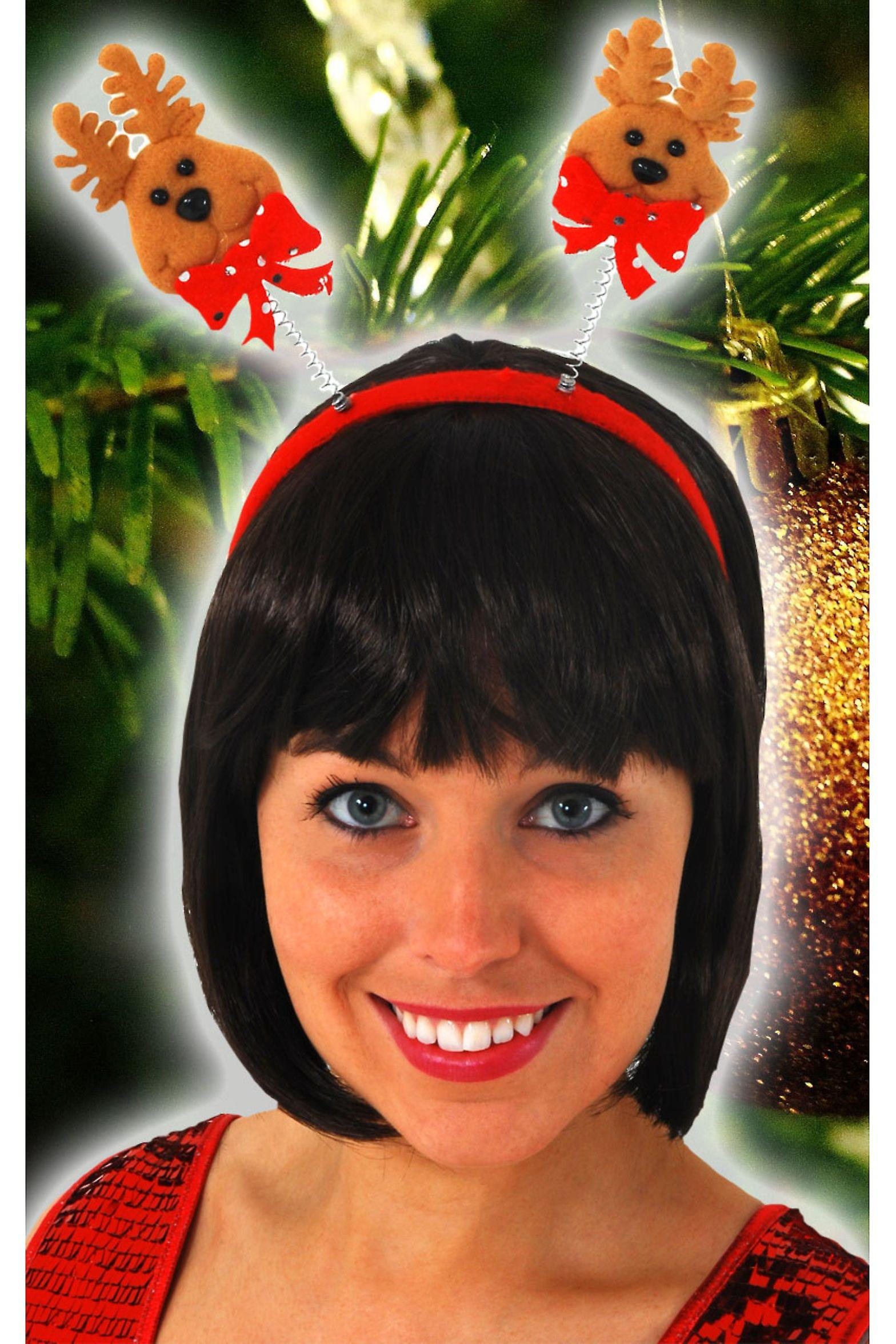 Haar Accessoires Weihnachten Diadem mit Rentier
