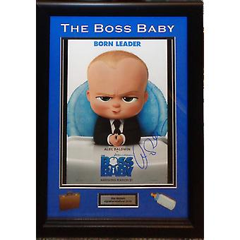 Boss Baby - Signed by Alec Baldwin - Framed Artist Series