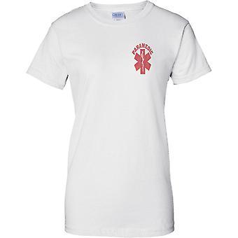 Paramedic EMT Logo - Ladies Chest Design T-Shirt
