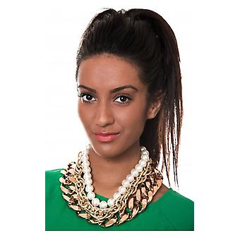 The Fashion Bible Gilded Layers Chunky Pearl Necklace