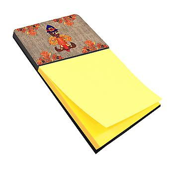 Thanksgiving Turkey Pilgram Fleur de lis Refiillable Sticky Note titolare o Posti