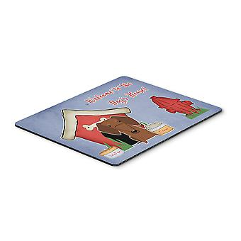 Dog House Collection Dachshund Red Brown Mouse Pad, Hot Pad or Trivet