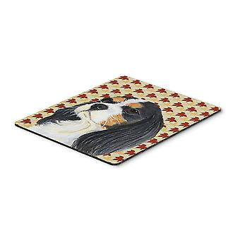 Cavalier Spaniel Fall Leaves Portrait Mouse Pad, Hot Pad or Trivet