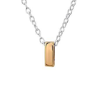 Ich - 925 Sterling Silber Plain Halsketten - W31031x