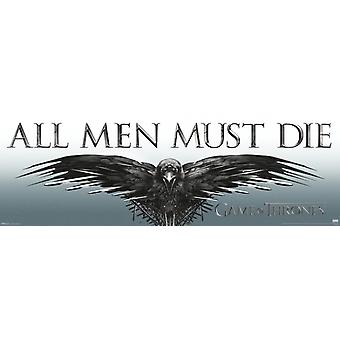 Game of Thrones - All Men Must Die Poster Poster Print