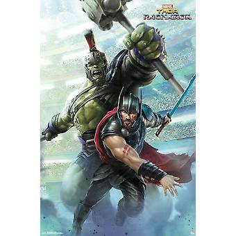 Thor Ragnarok - Warriors Poster afdrukken