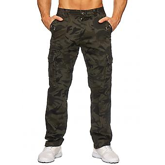 Men's cargo leisure pants Delta camouflage Tarn pattern Army military slim stretch
