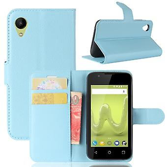 Pocket wallet premium Blue-to WIKO sunny 2 protection sleeve case cover pouch new