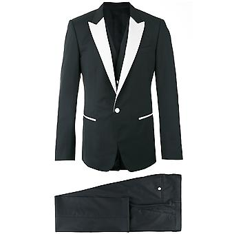 Dolce E Gabbana men's G1L1MTFU3J4N0000 black silk suit
