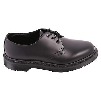 Dr Martens unisex 14345001DMSMONOB black leather lace-up shoes