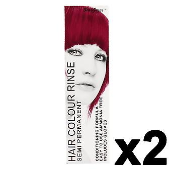 Semi Permanent Hair Dye by Stargazer - Cerise x 2 Packs