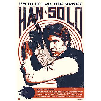 Star Wars Han Solo Rock Poster Poster Print