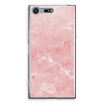 Sony Xperia XZ Premium Transparent Case (Soft) - Pink Marble