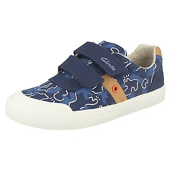 Boys Clarks Canvas Shoes Comic Zone