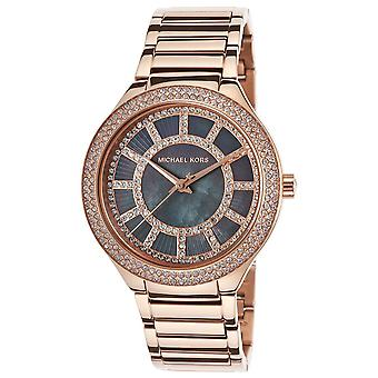 Michael damklocka Kors Kerry Rose Gold Crystal Bezel MK3397