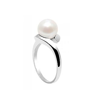 Ring Pearl of Culture of water soft white and Silver 925
