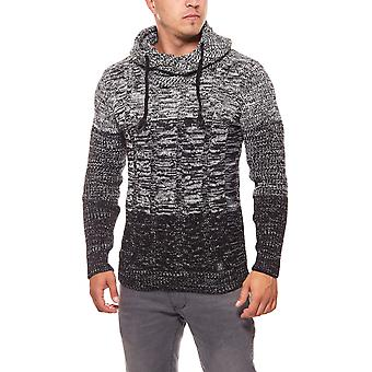CARISMA rope mens black knitted sweater sweater
