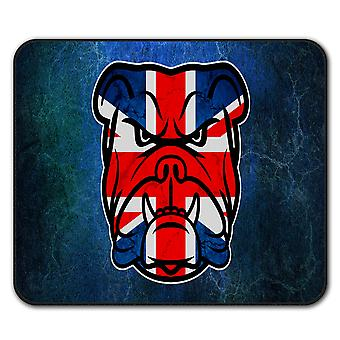 Brittish Bull Dog Flag UK  Non-Slip Mouse Mat Pad 24cm x 20cm | Wellcoda