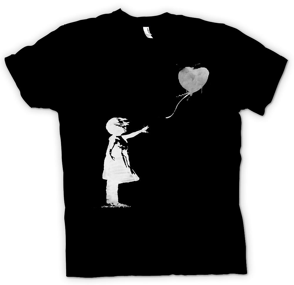 Womens T-shirt - Banksy Graffiti Art - Balloon