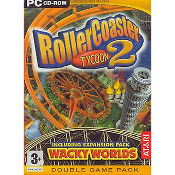 RollerCoaster Tycoon 2 Wacky Worlds Expansion Pack Gold Edition
