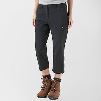 New Peter Storm Women's Walking Hiking length Stretch Crop Trousers Black