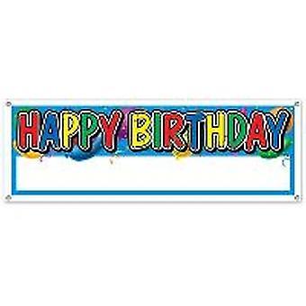 Happy Birthday Banner Blank Sign Massive