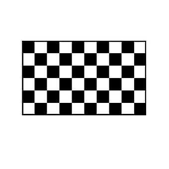 Überprüfen Sie Flagge schwarz und weiß 5 x 3 ft mit Ösen für hängende