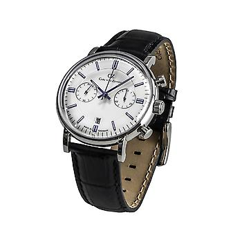 Carl of Zeyten men's watch wristwatch quartz Bühlot CVZ0037WH