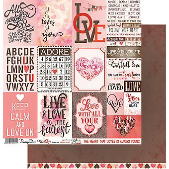 Cocoa Love Double-Sided Cardstock 12