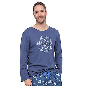 Cyberjammies 6298 Men's Finn Blue Pajama Pyjama Top