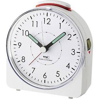 TFA 60.1513.02 Radio Alarm clock White Fluorescent Hands