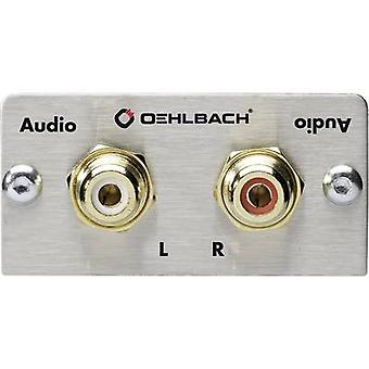 RCA stereo (R/L) Multimedia inset + gender changer Oehlbach PRO IN
